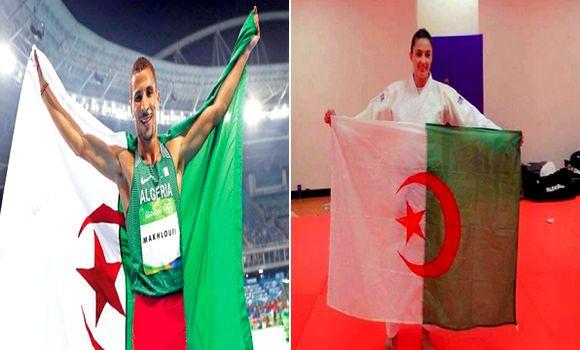Photo of Taoufik Makhloufi et Amina Belkadi sacrés  comme meilleurs athlètes 2019