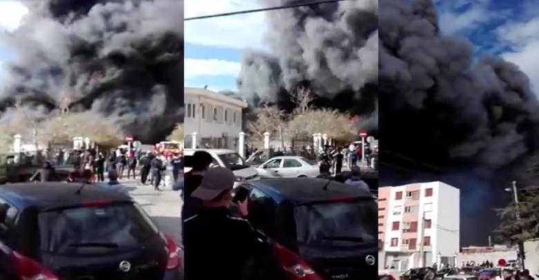"""Photo of Alger: incendie au centre commercial """"Bazar Dubaï"""" à Aïn Benian"""