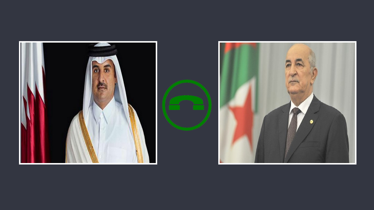 Photo of رئيس الجمهورية يتلقى مكالمة هاتفية من أمير دولة قطر