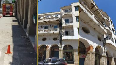 Photo of انهيار شرفة لبناية عتيقة بوسط مدينة سكيكدة
