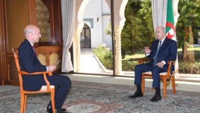 Photo of رئيس الجمهورية يجري لقاء صحفيا مع قناة فرانس 24 الفرنسية