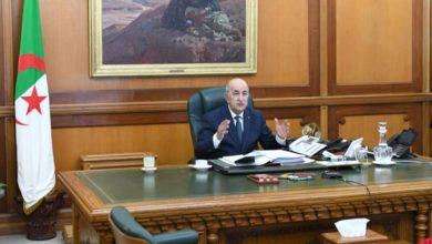Photo of رئيس الجمهورية يترأس جلسة عمل حول إعداد الخطة الوطنية للإنعاش الاقتصادي والاجتماعي