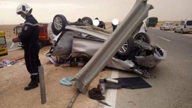 Photo of وفاة ثلاثة أشخاص وإصابة ثلاثة آخرين في حادث مرور بالقرب من الأغواط