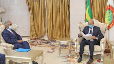 Photo of الرئيس الموريتاني يستقبل مبعوث الرئيس الصحراوي
