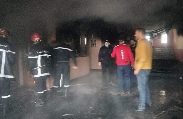 Photo of إخماد حريق بمقرّ فريق أولمبي المدية تسبّب في خسائر مادية
