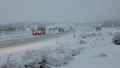 Photo of Chute de neige dans la région ouest de la wilaya de Djelfa