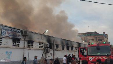 Photo of Sidi Bel Abbes: important incendie au marché des fruits et légumes
