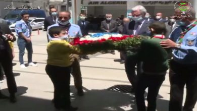 Photo of France's ambassador to Algiers lays a wreath at the Bouzid Saal memorial in Setif