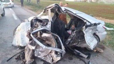 Photo of هلاك ثلاثة أشخاص في حادث مرور ببلدية قطارة بالجلفة