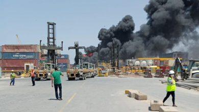 Photo of حريق بمدخل ميناء الجزائر لم يخلف خسائر