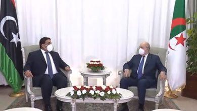 Photo of رئيس الجمهورية يخص رئيس المجلس الرئاسي الليبي باستقبال رسمي