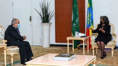 Photo of لعمامرة يُستقبل من طرف الرئيسة الإثيوبية ساهلي وورك زودي