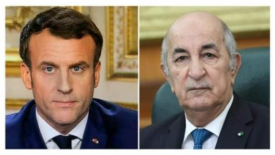 Photo of رئيس الجمهورية يتلقى مكالمة هاتفية من الرئيس الفرنسي