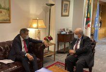 Photo of M. Lamamra reçoit à New York le président du CICR