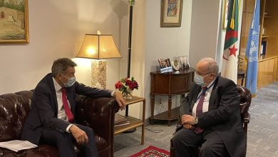 Photo of Lamamra receives the President of the International Committee of the Red Cross in New York