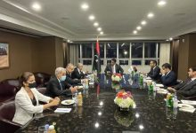 Photo of Lamamra reçu à New York par le président du Conseil présidentiel libyen