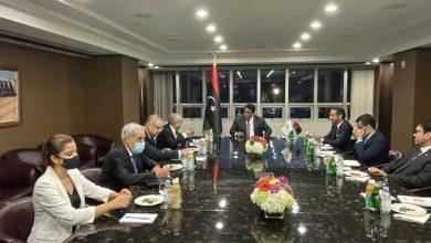 Photo of لعمامرة يستقبل بنيويورك من قبل رئيس المجلس الرئاسي الليبي