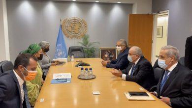 Photo of Lamamra examine avec la Vice-Secrétaire générale des Nations Unies la coopération entre l'Algérie et l'ONU