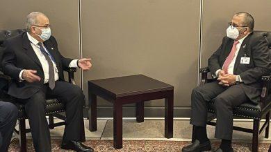 Photo of Lamamra s'entretient à New York avec le ministre d'Etat émirati