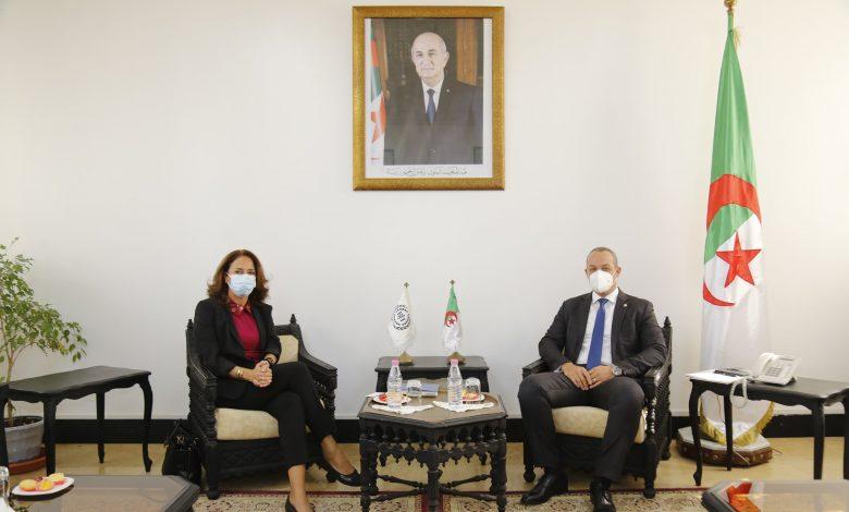 Photo of لحفاية يتباحث مع ممثلة منظمة العمل الدولية بالجزائر حول سبل تطوير آفاق التعاون