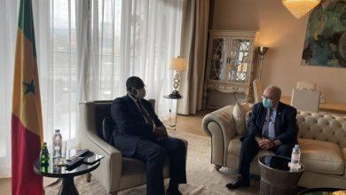 Photo of M. Lamamra reçu à Addis Abeba par le président sénégalais